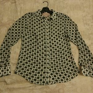 Philosophy Polka-Dot Button-up Blouse
